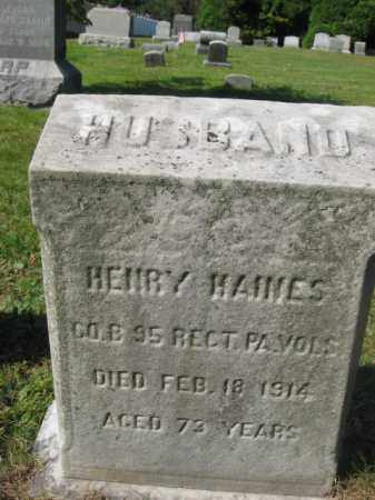 HAINES, HENRY - Burlington County, New Jersey | HENRY HAINES - New Jersey Gravestone Photos