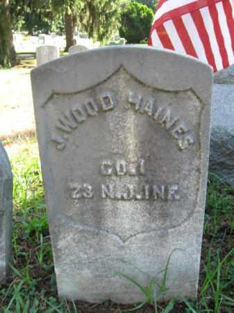 HAINES, J. WOOD - Burlington County, New Jersey   J. WOOD HAINES - New Jersey Gravestone Photos