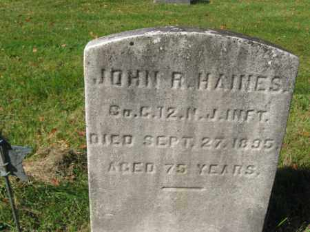 HAINES, JOHN R. - Burlington County, New Jersey | JOHN R. HAINES - New Jersey Gravestone Photos