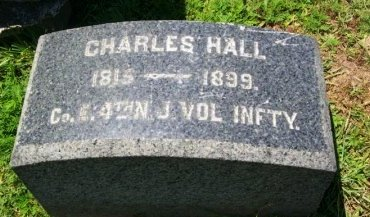 HALL, CHARLES - Burlington County, New Jersey   CHARLES HALL - New Jersey Gravestone Photos
