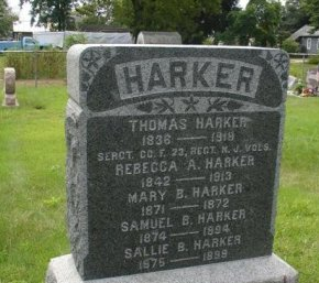 HARKER, THOMAS - Burlington County, New Jersey | THOMAS HARKER - New Jersey Gravestone Photos