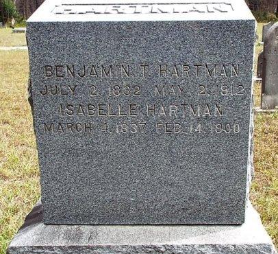 HARTMAN, BENJAMIN T. - Burlington County, New Jersey | BENJAMIN T. HARTMAN - New Jersey Gravestone Photos
