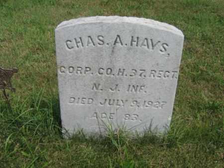 HAYS, CORP.CHARLES A. - Burlington County, New Jersey   CORP.CHARLES A. HAYS - New Jersey Gravestone Photos