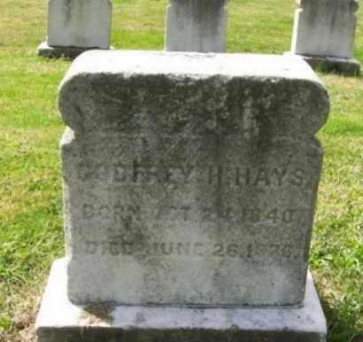 HAYS, GODFREY (GEORGE) H. - Burlington County, New Jersey | GODFREY (GEORGE) H. HAYS - New Jersey Gravestone Photos
