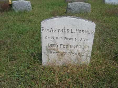HORNER, ARTHUR L. - Burlington County, New Jersey | ARTHUR L. HORNER - New Jersey Gravestone Photos