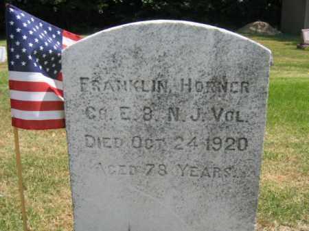 HORNER, FRANKLIN - Burlington County, New Jersey | FRANKLIN HORNER - New Jersey Gravestone Photos