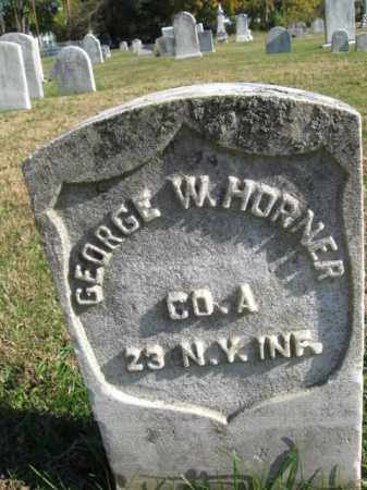 HORNER, GEORGE W. - Burlington County, New Jersey | GEORGE W. HORNER - New Jersey Gravestone Photos