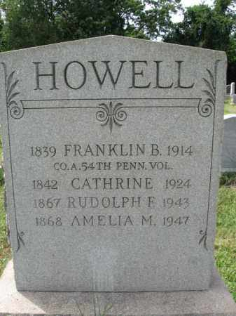 HOWELL, FRANKLIN B. - Burlington County, New Jersey | FRANKLIN B. HOWELL - New Jersey Gravestone Photos