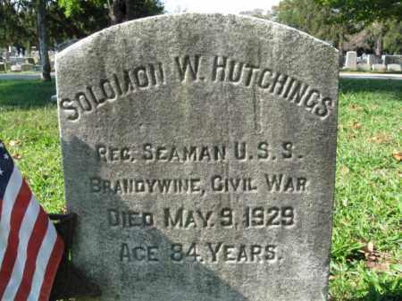 HUTCHINGS, SOLOMON W. - Burlington County, New Jersey | SOLOMON W. HUTCHINGS - New Jersey Gravestone Photos