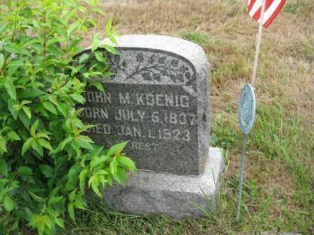 KOENIG, JOHN M. - Burlington County, New Jersey   JOHN M. KOENIG - New Jersey Gravestone Photos