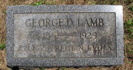 LAMB, GEORGE D. - Burlington County, New Jersey | GEORGE D. LAMB - New Jersey Gravestone Photos