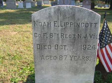 LIPPINCOTT, NOAH E. - Burlington County, New Jersey | NOAH E. LIPPINCOTT - New Jersey Gravestone Photos
