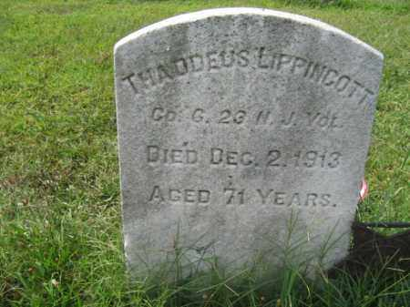 LIPPINCOTT, THADDEUS - Burlington County, New Jersey | THADDEUS LIPPINCOTT - New Jersey Gravestone Photos