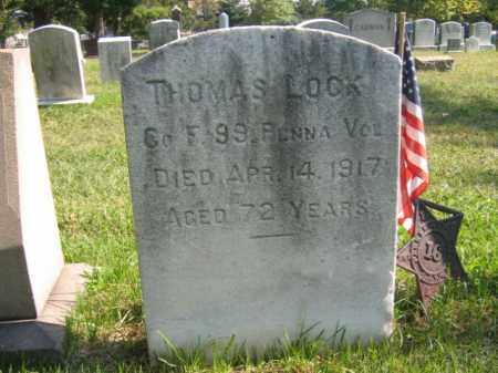 LOCK, THOMAS - Burlington County, New Jersey | THOMAS LOCK - New Jersey Gravestone Photos