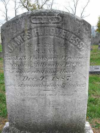 LOVELESS, JAMES H. - Burlington County, New Jersey   JAMES H. LOVELESS - New Jersey Gravestone Photos