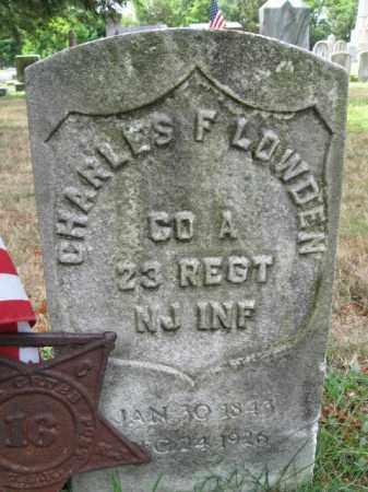 LOWDEN, CHARLES F. - Burlington County, New Jersey | CHARLES F. LOWDEN - New Jersey Gravestone Photos