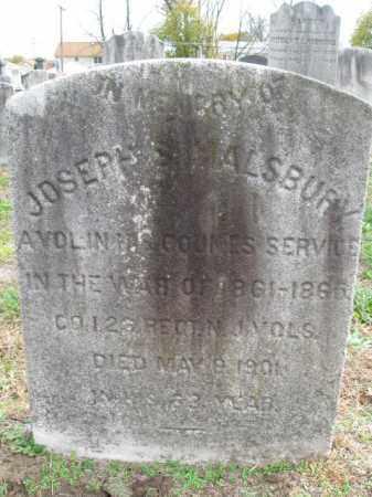 MALSBURY (MALMSBURY), JOSEPH S. - Burlington County, New Jersey | JOSEPH S. MALSBURY (MALMSBURY) - New Jersey Gravestone Photos