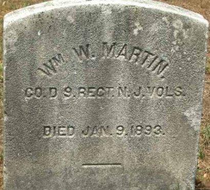 MARTIN, WILLIAM W. - Burlington County, New Jersey | WILLIAM W. MARTIN - New Jersey Gravestone Photos