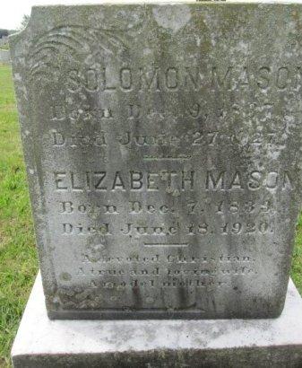 MASON, SOLOMON - Burlington County, New Jersey   SOLOMON MASON - New Jersey Gravestone Photos