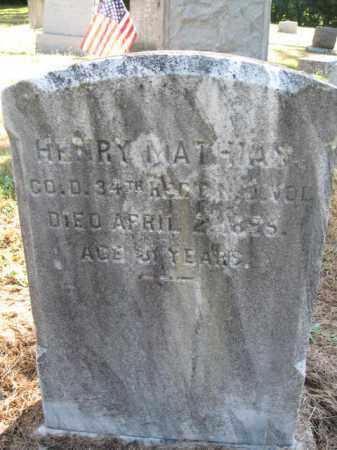 MATHIAS, HENRY - Burlington County, New Jersey | HENRY MATHIAS - New Jersey Gravestone Photos