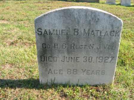 MATLOCK, SAMUEL B. - Burlington County, New Jersey   SAMUEL B. MATLOCK - New Jersey Gravestone Photos