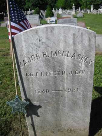 MCCLASKEY (MCGLOSKEY), MAJOR R. - Burlington County, New Jersey | MAJOR R. MCCLASKEY (MCGLOSKEY) - New Jersey Gravestone Photos