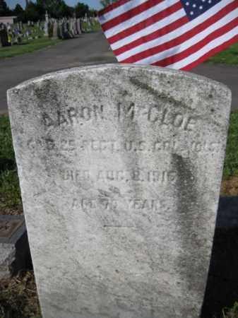 MCCLOE (MCCLURE), AARON - Burlington County, New Jersey   AARON MCCLOE (MCCLURE) - New Jersey Gravestone Photos