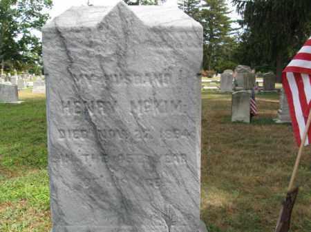 MCKIM, HENRY - Burlington County, New Jersey   HENRY MCKIM - New Jersey Gravestone Photos