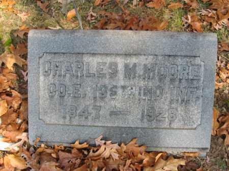 MOORE, CHARLES M. - Burlington County, New Jersey | CHARLES M. MOORE - New Jersey Gravestone Photos