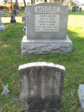 MOORE, JOHN F. - Burlington County, New Jersey | JOHN F. MOORE - New Jersey Gravestone Photos