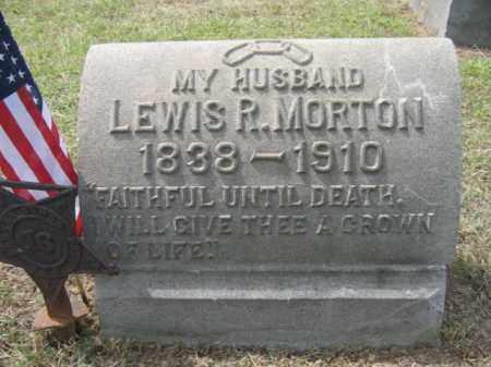 MORTON, LEWIS R. - Burlington County, New Jersey   LEWIS R. MORTON - New Jersey Gravestone Photos