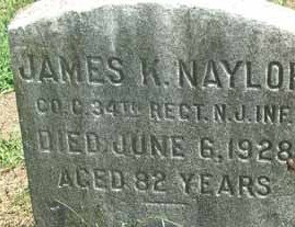 NAYLOR, JAMES K. - Burlington County, New Jersey | JAMES K. NAYLOR - New Jersey Gravestone Photos