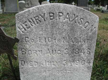 PAXSON, HENRY B. - Burlington County, New Jersey | HENRY B. PAXSON - New Jersey Gravestone Photos