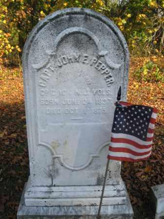 PEPPER, JOHN E. - Burlington County, New Jersey   JOHN E. PEPPER - New Jersey Gravestone Photos