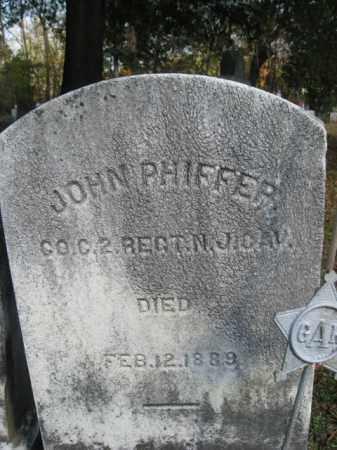 PHIFFER, JOHN - Burlington County, New Jersey | JOHN PHIFFER - New Jersey Gravestone Photos