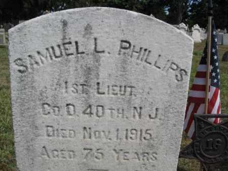 PHILLIPS, 1ST LT.SAMUEL - Burlington County, New Jersey   1ST LT.SAMUEL PHILLIPS - New Jersey Gravestone Photos