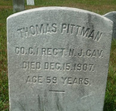 PITTMAN (PITMAN), THOMAS - Burlington County, New Jersey   THOMAS PITTMAN (PITMAN) - New Jersey Gravestone Photos
