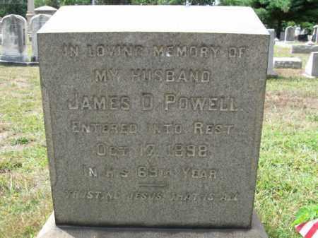 POWELL, JAMES D. - Burlington County, New Jersey   JAMES D. POWELL - New Jersey Gravestone Photos