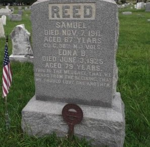 REED, SAMUEL - Burlington County, New Jersey   SAMUEL REED - New Jersey Gravestone Photos