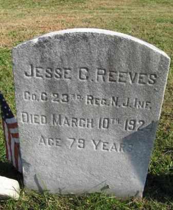 REEVES, JESSE C. - Burlington County, New Jersey | JESSE C. REEVES - New Jersey Gravestone Photos