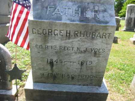 RHUBART, GEORGE H. - Burlington County, New Jersey | GEORGE H. RHUBART - New Jersey Gravestone Photos
