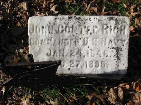 RICK, JOHN CONTEE - Burlington County, New Jersey   JOHN CONTEE RICK - New Jersey Gravestone Photos