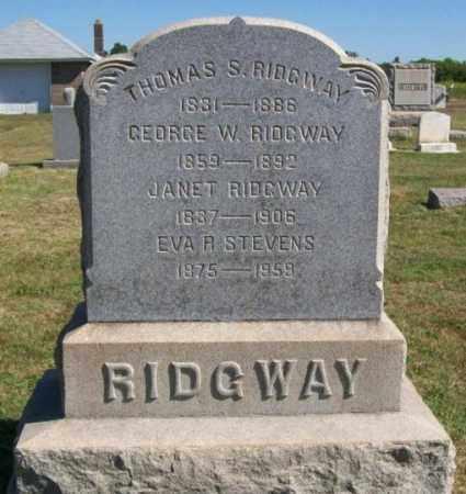 RIDGWAY, THOMAS S. - Burlington County, New Jersey | THOMAS S. RIDGWAY - New Jersey Gravestone Photos