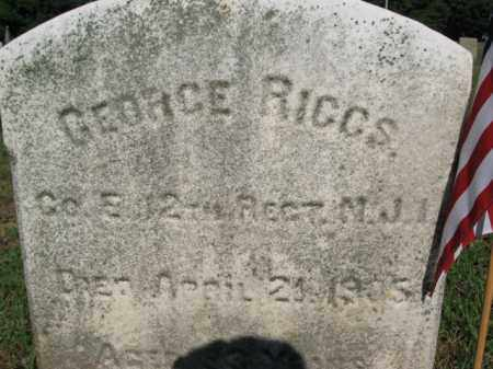 RIGGS, GEORGE - Burlington County, New Jersey | GEORGE RIGGS - New Jersey Gravestone Photos