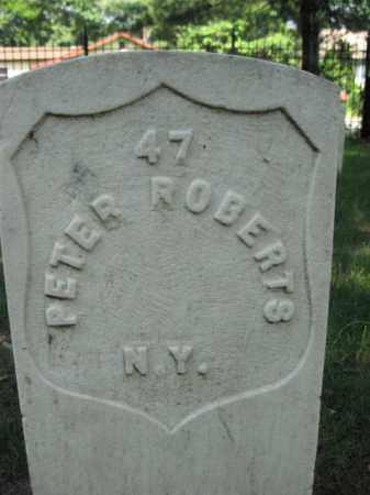 ROBERTS, PVT.PETER - Burlington County, New Jersey | PVT.PETER ROBERTS - New Jersey Gravestone Photos