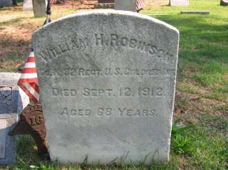 ROBINSON, WILLIAM H. - Burlington County, New Jersey | WILLIAM H. ROBINSON - New Jersey Gravestone Photos