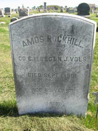 ROCKHILL, AMOS - Burlington County, New Jersey | AMOS ROCKHILL - New Jersey Gravestone Photos