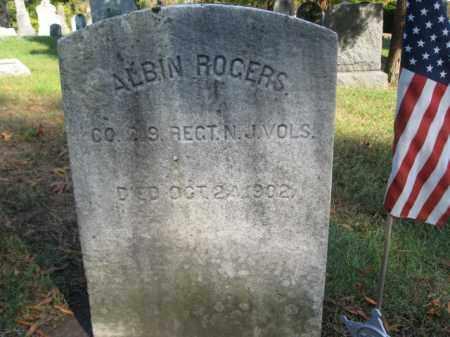 ROGERS, ALBIN - Burlington County, New Jersey   ALBIN ROGERS - New Jersey Gravestone Photos