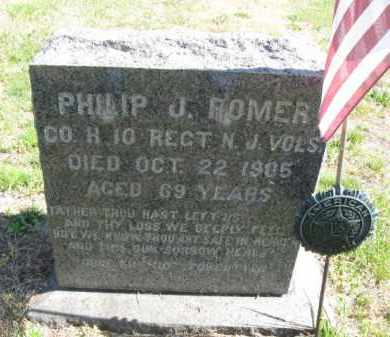 ROMER, PHILIP J. - Burlington County, New Jersey | PHILIP J. ROMER - New Jersey Gravestone Photos