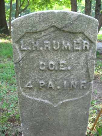 RUMER, L.H. - Burlington County, New Jersey | L.H. RUMER - New Jersey Gravestone Photos